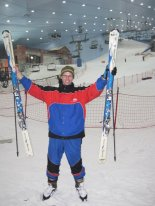 Dr. Wetmore enjoying Ski Dubai.