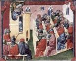 14th century painting of lecture
